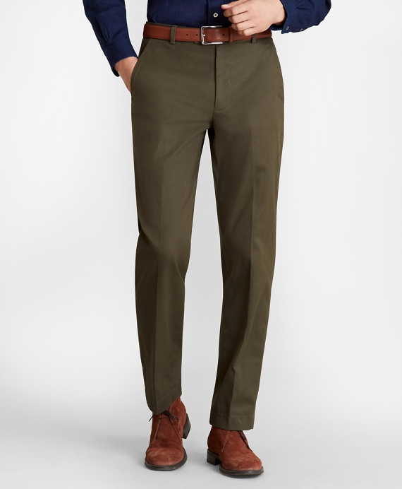 Clark Fit Supima® Cotton Stretch Chinos Dark Green