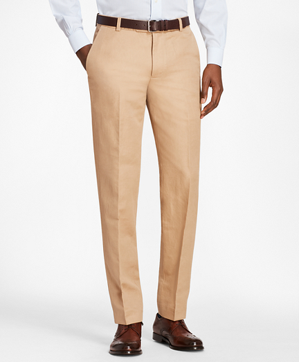 Milano Fit Linen and Cotton Chino Pants