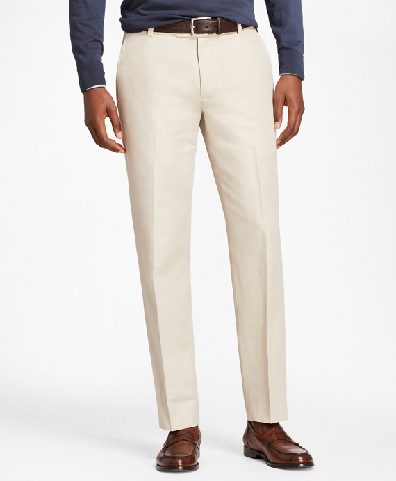 Milano Fit Linen and Cotton Chinos Oatmeal