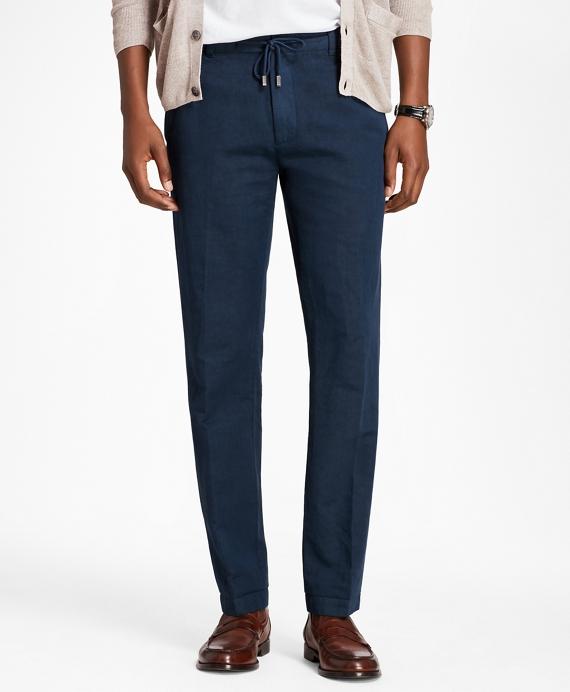 Linen and Cotton Drawstring Pants