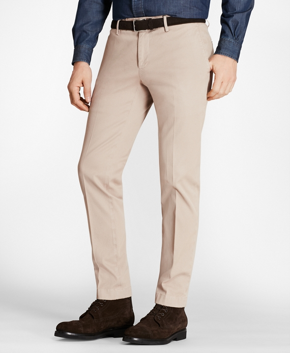 Garment-Dyed Stretch Cavalry Twill Chinos Taupe