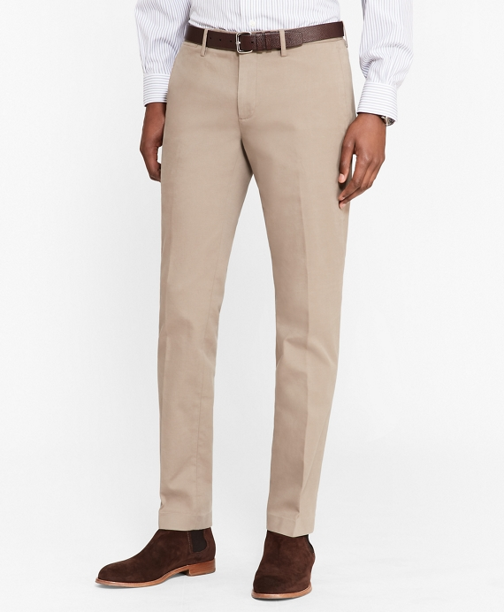 Soho Fit Cotton Twill Stretch Chinos Oatmeal
