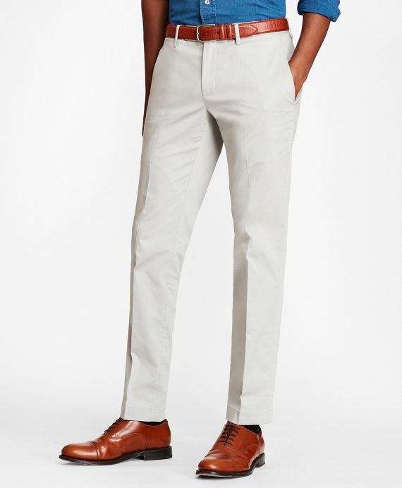 Soho Fit Textured Stretch Chinos Grey