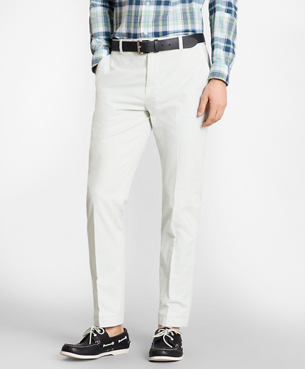 Milano Fit Stripe Seersucker Pants