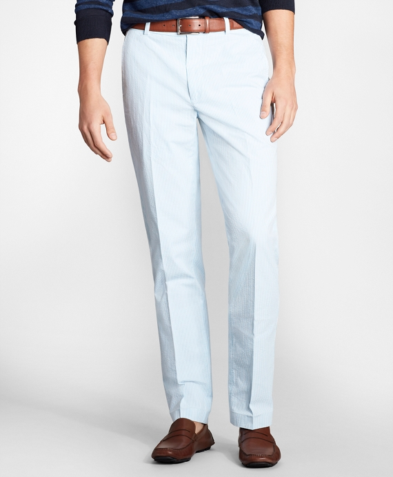 Clark Fit Stripe Seersucker Pants Blue