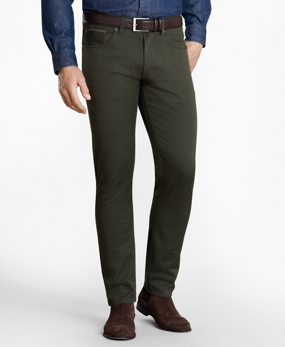 Five-Pocket Selvedge Twill Pants Dark Green