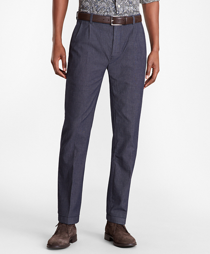 Soho Fit Indigo Double-Pleat Pants
