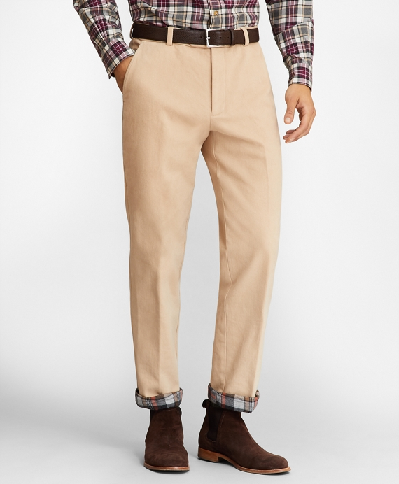 Clark Fit Flannel Lined Chinos Tan