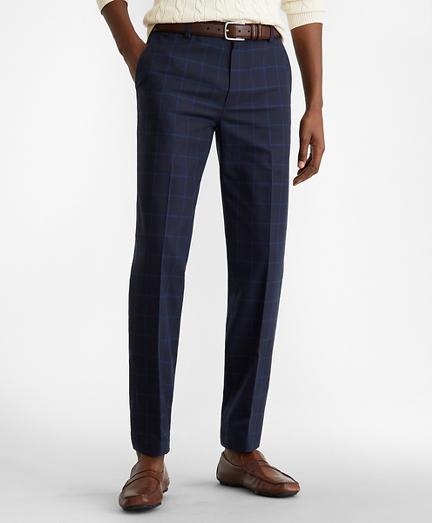 Milano Fit Windowpane Stretch Advantage Chino® Pants