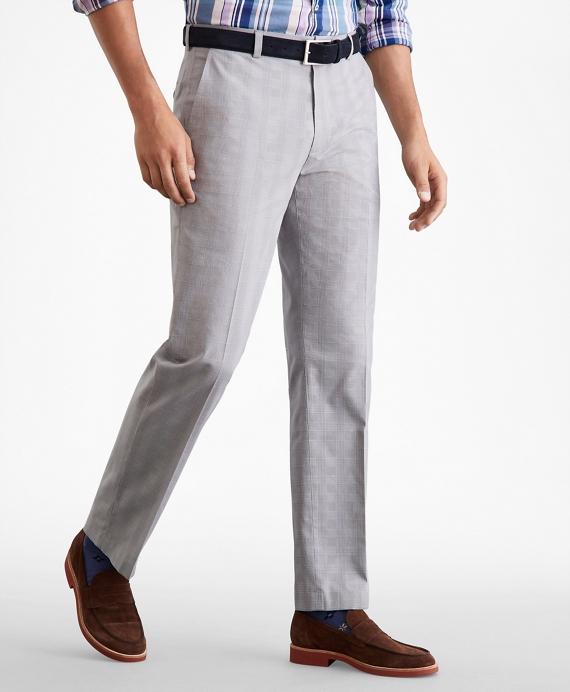 Clark Fit Glen Plaid Stretch Advantage Chino® Pants Grey