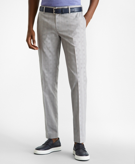 Soho Fit Windowpane Stretch Advantage Chino® Pants Grey