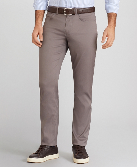 Slim-Fit Five-Pocket Tech Pants Charcoal