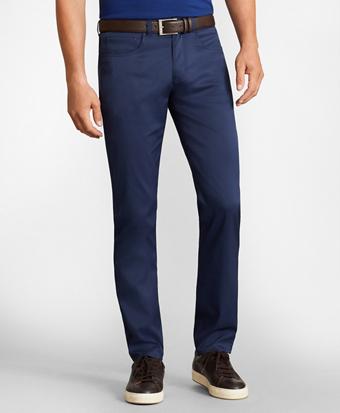 Slim-Fit Five-Pocket Tech Pants