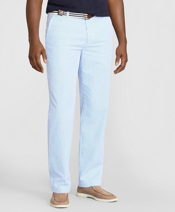 Clark Fit Stripe Seersucker Pants Brooks Brothers