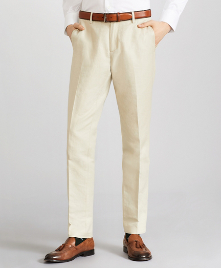 Soho Fit Linen and Cotton Chino Pants