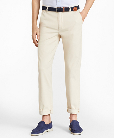 Milano Fit Garment-Dyed Stretch Chino Pants