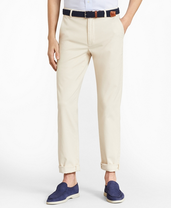 Milano Fit Garment-Dyed Stretch Chino Pants Oatmeal