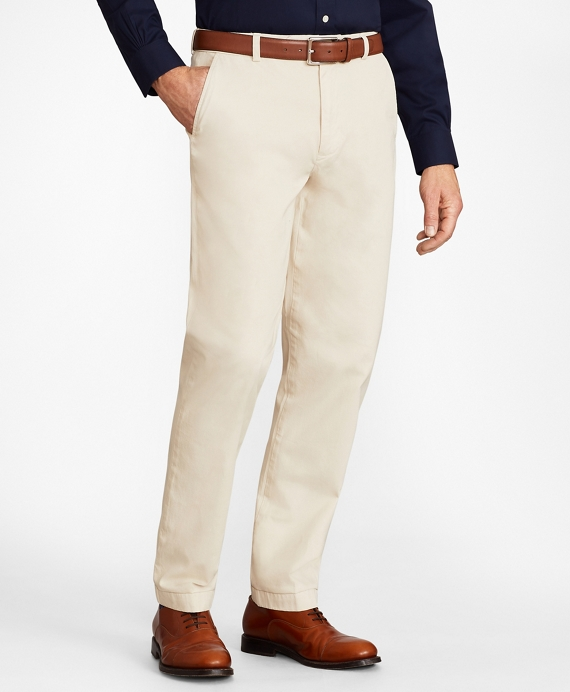 Clark Fit Garment-Dyed Stretch Chino Pants Oatmeal