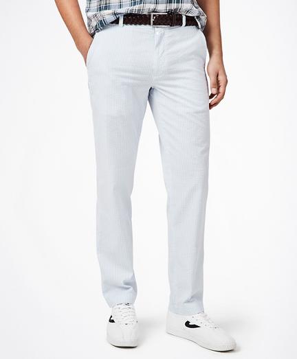 Clark Fit Striped Seersucker Pants