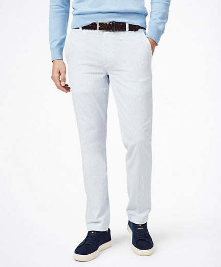 Milano Fit Striped Seersucker Pants