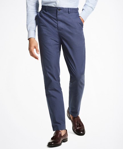 Milano Fit Stretch Houndstooth Chino Pants