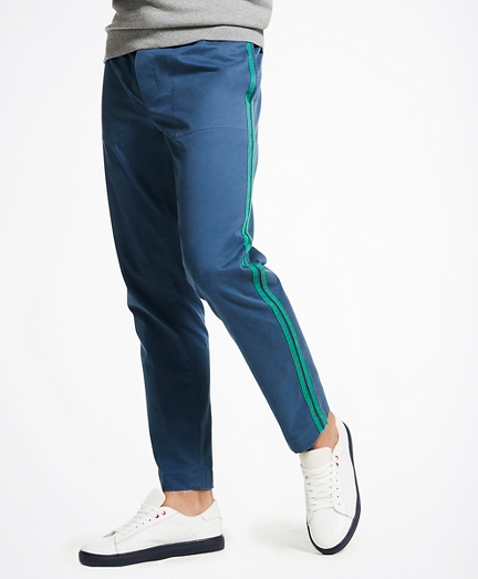 Stretch Washed Cotton Track Pants