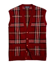 Saxxon Wool Reserve Signature Tartan Button-Front Vest