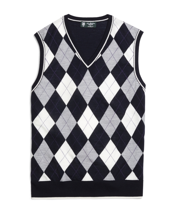 f8677cf00f89 Men's Country Club Navy, White, and Grey Argyle Sweater Vest ...