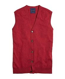 Pink Cashmere Button-Front Vest