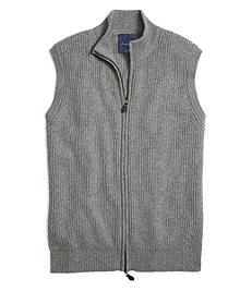 Cashmere Full-Zip Vest
