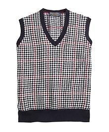Cashmere Houndstooth Vest
