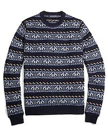 Fair Isle Anchor Crewneck Sweater