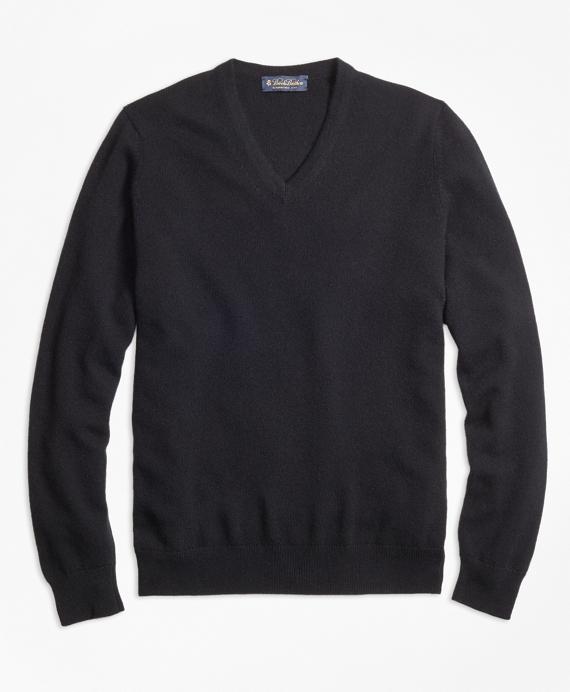 11440c49 Men's Cashmere Basic V-Neck Sweater | Brooks Brothers