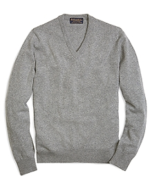 Cashmere V-Neck Sweater-Basic Colors