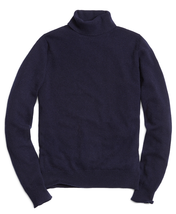 Cashmere Turtleneck Sweater Navy