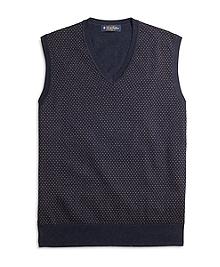 Cotton Cashmere Dot Vest