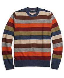 Multi Stripe Crewneck Sweater