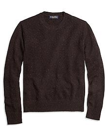 Textured Chest Crewneck Sweater