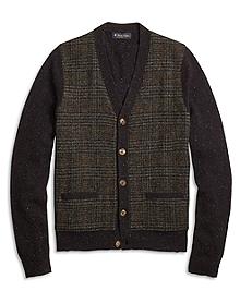 Harris Tweed Button-Front Cardigan