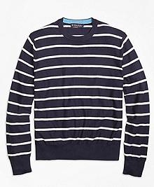 Lightweight Breton Stripe Crewneck Sweater