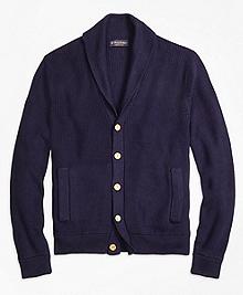 Supima® Cotton Shawl Collar Cardigan