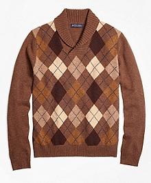 Heritage Argyle Shawl Collar Sweater
