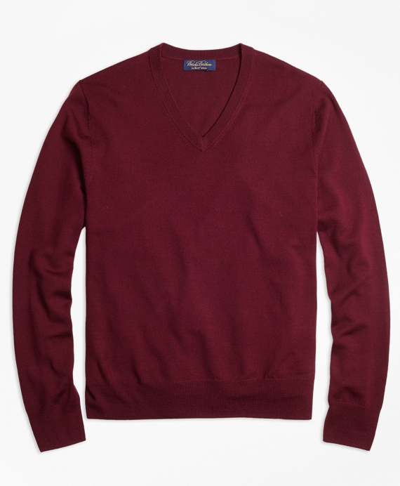 Saxxon™ Wool V-Neck Sweater Burgundy