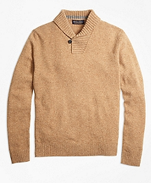 Lambswool Shawl Collar Sweater
