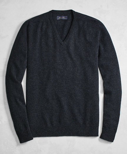 Golden Fleece® 3-D Knit Cashmere V-Neck Sweater