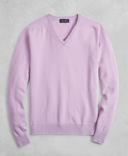 Golden Fleece® 3-D Knit Cashmere V-Neck Sweater