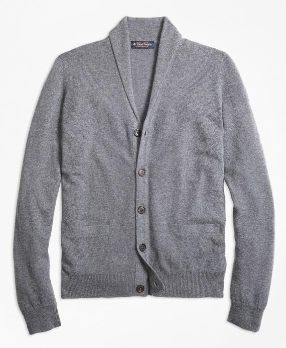 Cashmere Shawl Collar Cardigan Grey