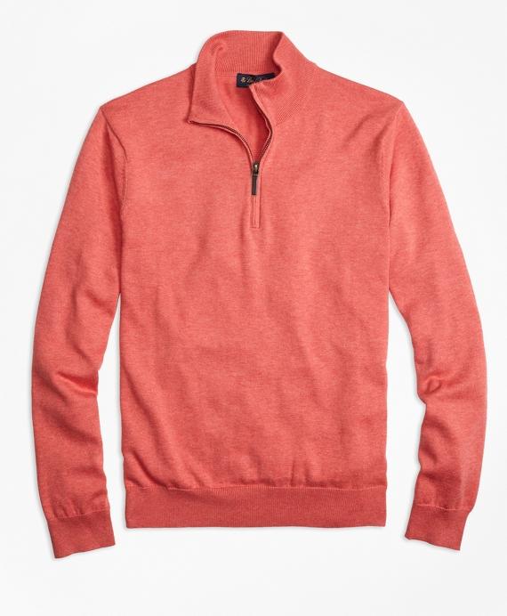 Supima® Cotton Half-Zip Sweater Red