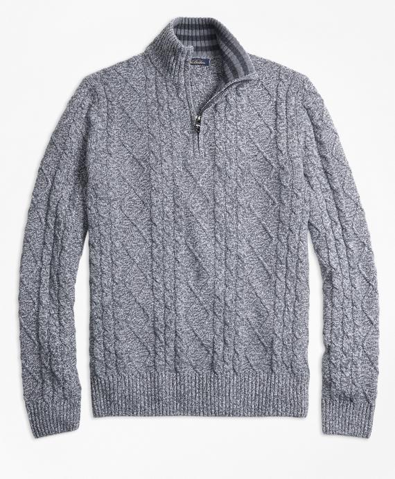Marled Half-Zip Grey