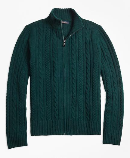 Merino Wool Cable Full-Zip
